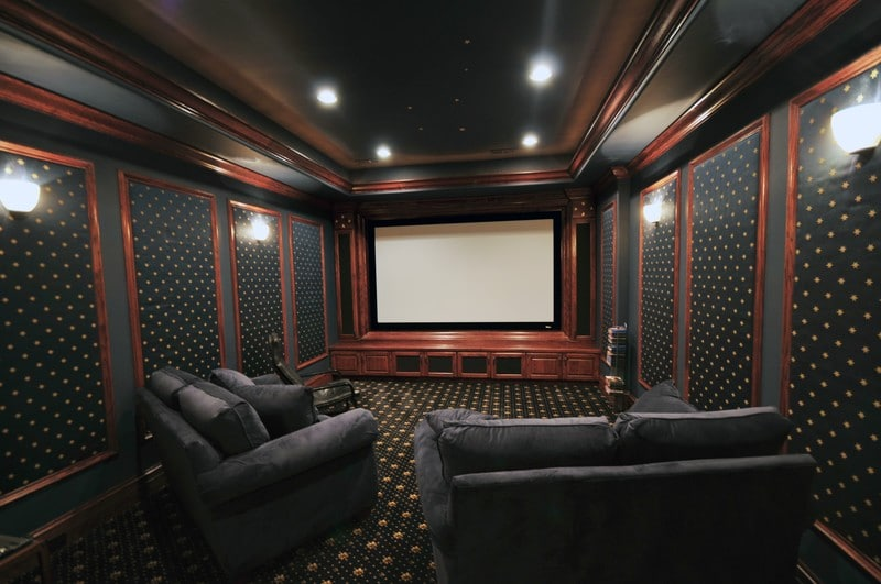 Garage converted to cinema